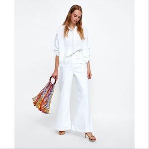 Zara Oversized Off-White Blouse XS